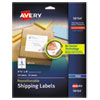 <strong>Avery®</strong><br />Repositionable Shipping Labels w/SureFeed, Inkjet, 3 1/3 x 4, White, 150/Box