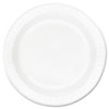 """<strong>Dart®</strong><br />Concorde Foam Plate, 10.25"""" dia, White, 125/Pack, 4 Packs/Carton"""