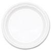 "Dart® Famous Service Plastic Dinnerware, Plate, 6"" dia, WE, 125/Pack, 8 Packs/Carton DCC6PWF"