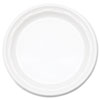"""<strong>Dart®</strong><br />Famous Service Plastic Dinnerware, Plate, 9"""", White, 125/Pack, 4 Packs/Carton"""