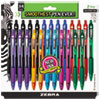 <strong>Zebra®</strong><br />Z-Grip Ballpoint Pen, Retractable, Medium 1 mm, Assorted Business/Artistic Ink Colors, Clear Barrel, 24/Pack