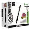 <strong>Zebra®</strong><br />Z-Grip Ballpoint Pen, Retractable, Medium 1 mm, Black Ink, Black Barrel, 48/Pack