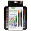 BRUSH & DETAIL DUAL ENDED MARKERS, EXTRA-FINE BRUSH/BULLET TIP, ASSORTED COLORS, 16/SET