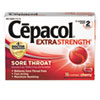 NON-RETURNABLE. Extra Strength Sore Throat Lozenge, Cherry, 16/box