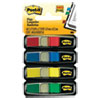"""SMALL FLAGS, 0.5"""" X 1.75"""", STANDARD, ASSORTED PRIMARY, 140/DISPENSER, 6 DISPENSERS/BOX"""