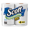 RAPID-DISSOLVING TOILET PAPER, BATH TISSUE, SEPTIC SAFE, 1-PLY, WHITE, 231 SHEETS/ROLL, 4/ROLLS/PACK, 12 PACKS/CARTON