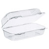 <strong>Dart®</strong><br />StayLock Clear Hinged Lid Containers, 5.4 x 9 x 3.5, Clear, 250/Carton