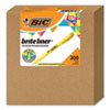 <strong>BIC®</strong><br />Brite Liner Highlighter Xtra Value Pack, Chisel Tip, Yellow, 200/Carton