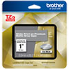 "<strong>Brother</strong><br />TZe Premium Laminated Tape, 0.94"" x 26.2 ft, White on Gray"