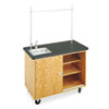 <strong>Diversified Woodcrafts</strong><br />Economy Mobile Lab Table, Rectangular, 48w x 24d x 36h, Black