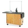 <strong>Diversified Woodcrafts</strong><br />Mobile Laboratory Table, Rectangular, 48w x 24d x 36h, Black