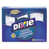 <strong>Dixie®</strong><br />Combo Pack, Tray with White Plastic Utensils, 56 Forks, 56 Knives, 56 Spoons