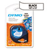 "DYMO 1/2"" Black on White Plastic Tape"