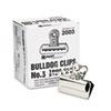 "X-ACTO® Bulldog Clips, Steel, 7/8"" Capacity, 2-5/8""w, Nickel-Plated, 12 per Box EPI2003"