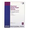 Premium Photo Paper, 10.4 mil, 17 x 22, High-Gloss White, 25/Pack