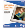 Epson® Ultra-Premium Glossy Photo Paper, 79 lbs., 8-1/2 x 11, 25 Sheets/Pack EPSS042182