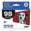 Epson® T098120 (98) Claria High-Yield Ink, Black EPST098120