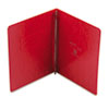 """Oxford® PressGuard Coated Cover, Prong Clip, Letter, 3"""" Capacity, Executive Red OXF12711"""