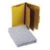 Pendaflex® Six-Section Colored Classification Folders, Legal, 2/5 Tab, Yellow, 10/Box PFX2257Y