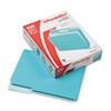 Pendaflex® Interior File Folders, 1/3 Cut Top Tab, Letter, Aqua, 100/Box PFX421013AQU
