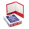 Oxford® High Gloss Laminated Paperboard Folder, 100-Sheet Capacity, Red, 25/Box OXF51711