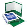 Oxford® High Gloss Laminated Paperboard Folder, 100-Sheet Capacity, Green, 25/Box OXF51717