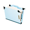 Pendaflex® Pressboard Hanging Classi-Folder, 1 Divider/4-Sections, Letter, 2/5 Tab, Blue PFX59251