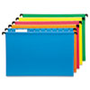 Poly Laminate Hanging Folders, 1/5 Tab, Legal, Assorted, 20/Box