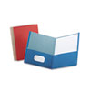 Oxford® Earthwise 100% Recycled Paper Twin-Pocket Portfolio, Assorted Colors, 25/Box OXF78513