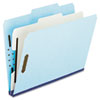 Four- and Six-Section Classification Folders, Letter, 2/5 Tab, , Blue, 10/Box