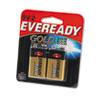 Eveready A522BP-2 Alkaline 9-Volt Battery - 565 mAh - 9V - Alkaline - 9 V DC - 2 / Pack EVEA522BP2