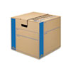 Bankers Box® SmoothMove Prime Medium Moving Boxes, 18l x 18w x 16h, Kraft/Blue, 8/Carton FEL0062801