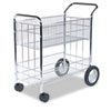 Wire Mail Cart, 21-1/2w x 37-1/2d x 39-1/4h, Chrome
