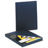 Fellowes® Executive Presentation Binding System Covers, 11-1/4 x 8-3/4, Navy, 50/Pack FEL52145