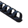 "Fellowes® Plastic Comb Bindings, 1/2"" Dia, 90 Sheet Capacity, Navy Blue, 100 Combs/Pack FEL52501"
