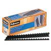 "Fellowes® Plastic Comb Bindings, 5/16"" Diameter, 40 Sheet Capacity, Black, 100 Combs/Pack FEL52507"