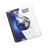 Fellowes® Crystals Presentation Covers w/Square Corner, 3-Hole, 11 x 8 1/2, Clear, 100/PK FEL5293701