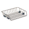 Side-Load Wire Stacking Letter Tray, Wire, Black