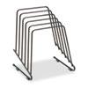 Fellowes® Wire Step File II, 5 Comp, Steel, 7 1/4 x 6 x 8 1/4, Black FEL69712