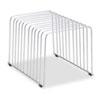 Fellowes® Wire Desktop Organizer, 11 Comp, Wire, 9 x 11 3/8 x 8, Silver FEL72012