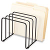 Fellowes® Wire Vertical File, 5 Comp, Steel, 10 1/4 x 8 x 7 7/16, Black FEL72351