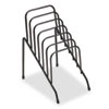 Wire Step File Jr, 6 Comp, Steel, 4 3/8 x 6 1/2 x 7 3/4, Black