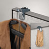 Fellowes® Pro Series Partition Additions Coat Hook & Clip, 1 5/8 x 2 3/4 x 3, Slate Gray FEL7501101