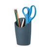 Fellowes® Plastic Partition Additions Pencil Cup, 3 1/2 x 5 9/16, Graphite FEL75272