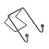 <strong>Fellowes®</strong><br />Partition Additions Wire Double-Garment Hook, 4 x 6, Black