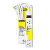 Fellowes® Six-Outlet Power Strip, 120V, 6ft Cord, 9 5/8 x 1 13/16 x 1 7/16, Platinum FEL99028