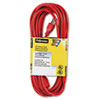 Fellowes® Indoor/Outdoor Heavy-Duty 3-Prong Plug Extension Cord, 1-Outlet, 25ft, Orange FEL99597