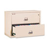 FireKing® Two-Drawer Lateral File, 31-1/8w x 22-1/8d, UL Listed 350°, Ltr/Legal, Parchment FIR23122CPA