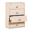 FireKing® Four-Drawer Lateral File, 31-1/8 x 22-1/8, UL Listed 350°, Ltr/Legal, Parchment FIR43122CPA