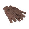 <strong>Boardwalk®</strong><br />Jersey Knit Wrist Clute Gloves, One Size Fits Most, Brown, 12 Pairs